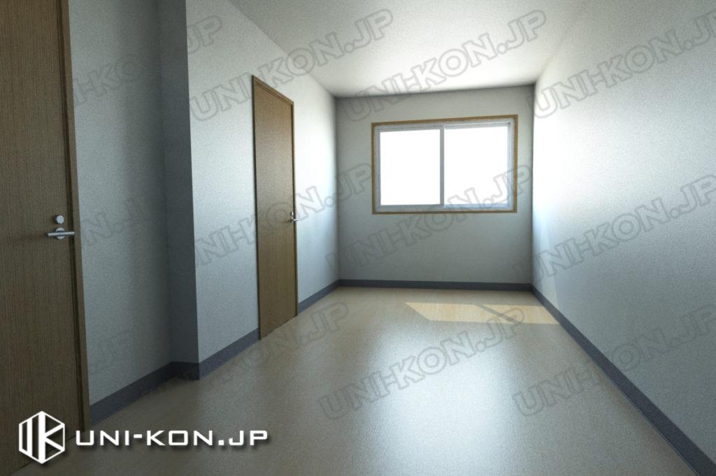 連結型集合住宅・アパート用コンテナハウスの中、出荷状態(家具無し状態)1