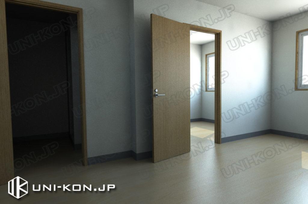 連結型集合住宅・アパート用コンテナハウスの中、出荷状態(家具無し状態)3