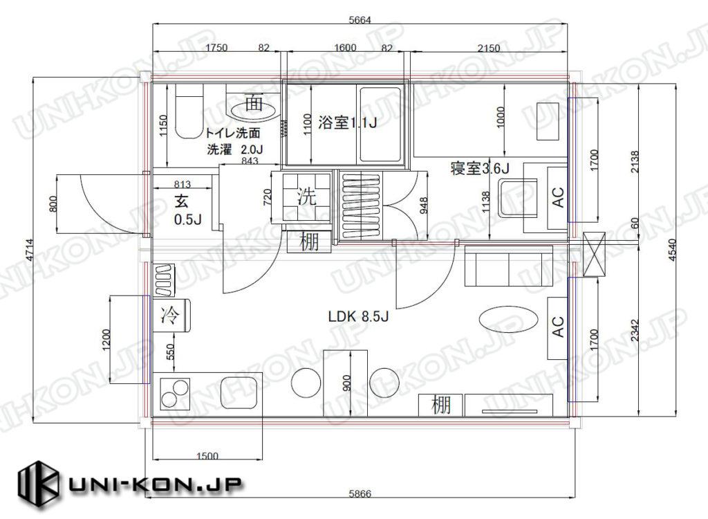 連結型コンテナハウスを集合住宅・アパートに応用するレイアウト