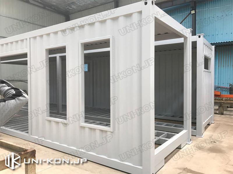 Uni-Konコンテナハウス品質:コンテナハウス中国工場内製造時2