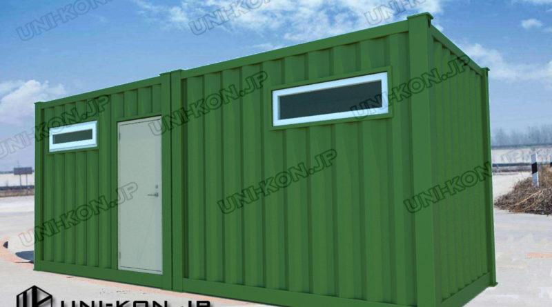 10Ftイレギュラーコンテナを2つ連結して、20Ftコンテナとして運送する設計例