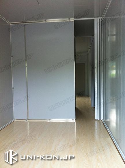 中国製組立式コンテナハウス・プレハブ内部・内装日本福島復興作業員寄宿舎用