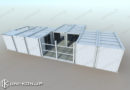 JIS鋼材連棟コンテナハウス宿泊ホテル施工事例