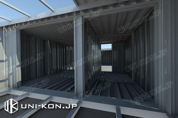 コンテナハウス内部構造