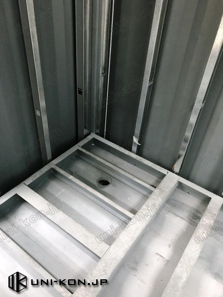 JIS鋼材コンテナハウストイレ排水口