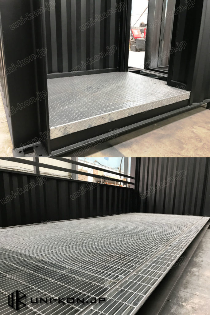 JIS鋼材新造コンテナハウス細部作り・品質亜鉛メッキグレーチング床