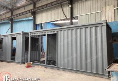 JIS鋼材コンテナハウスホテル・民泊完成1