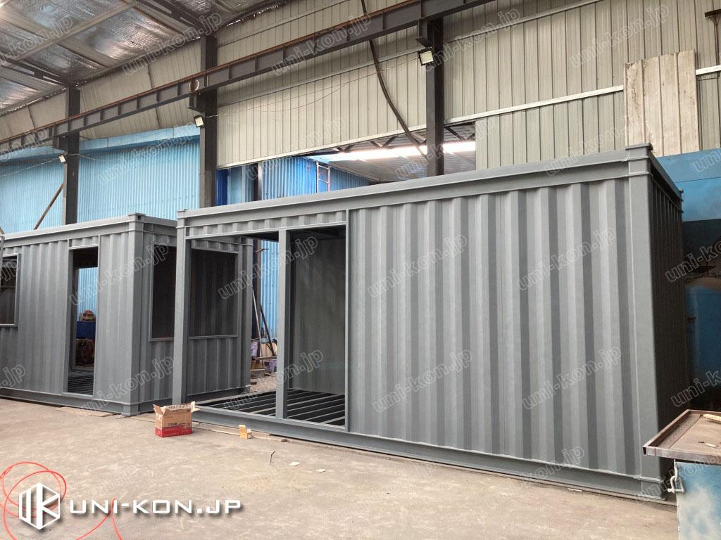 JIS鋼材コンテナハウス完成ホテル・民泊1