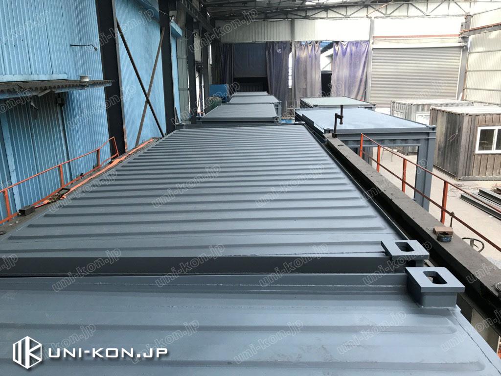 JIS鋼材コンテナハウス片側排水勾配屋根