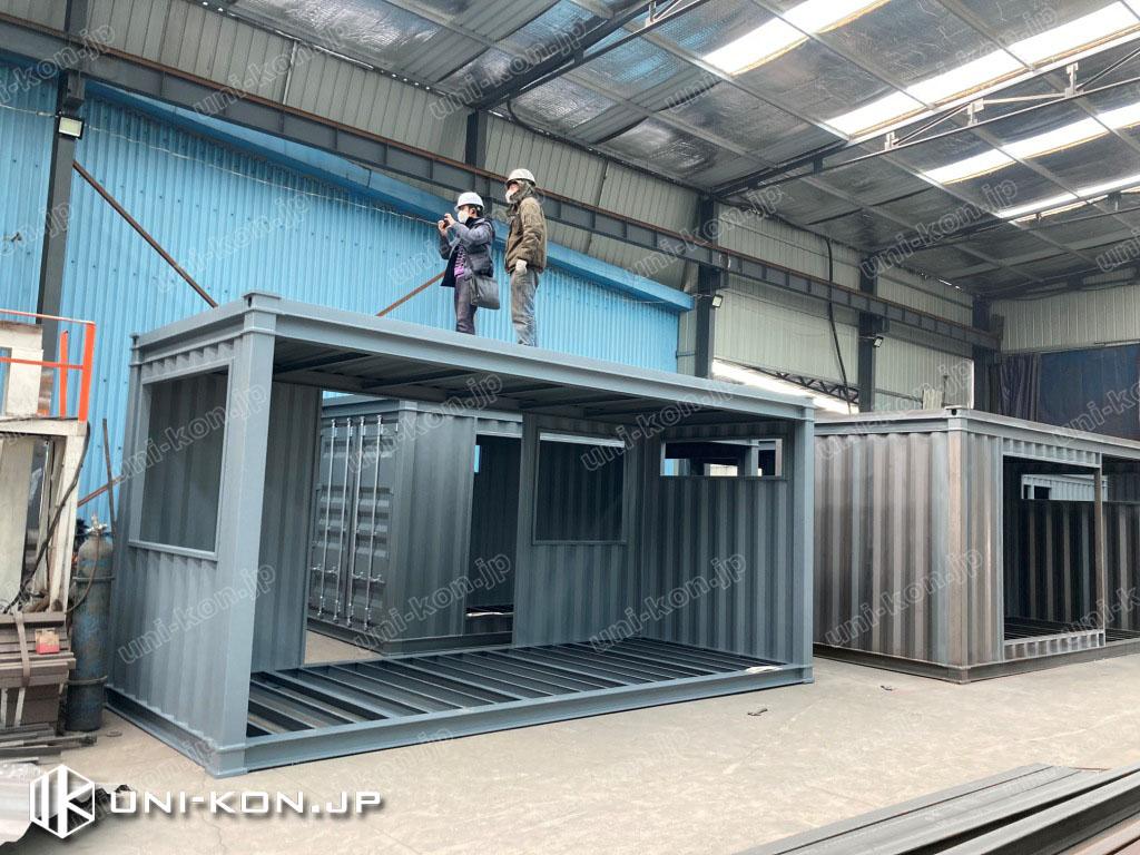 JIS鋼材コンテナハウス完成検査2