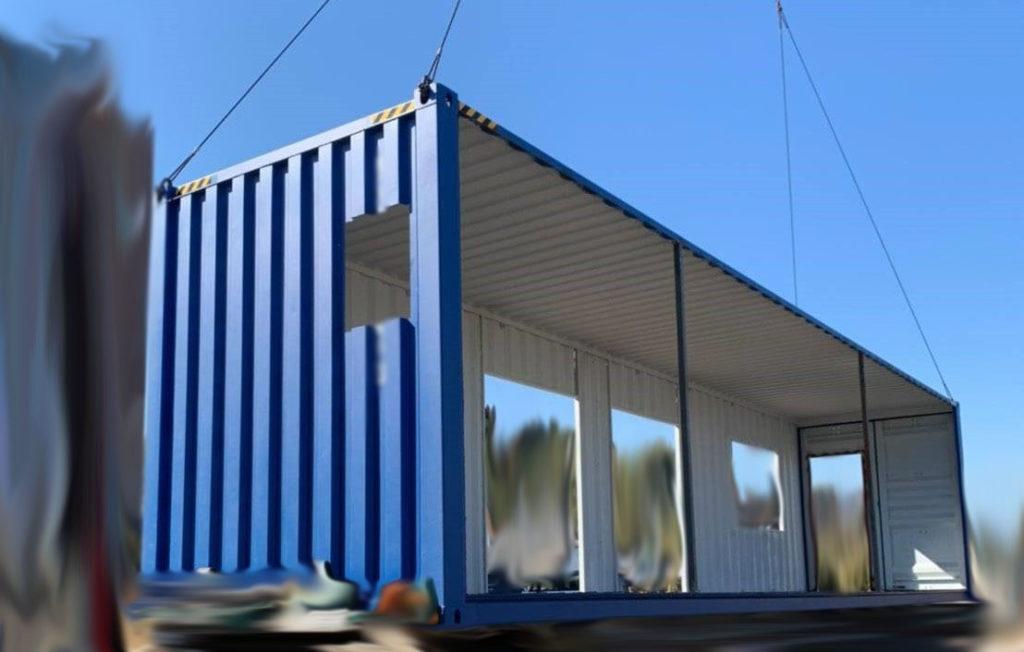 材料だけはJIS鋼材で、構造はISO貨物コンテナのまま